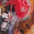 La artista, con su gran capacidad de abstracción, recrea en lienzo el espíritu mismo de la música, la vida misma.