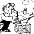 Muestra de humor gráfico, caricaturas e ilustraciones del periodismo argentino.